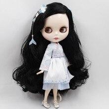 Кукла блайз ICY DBS, Серия № BL117, длинные черные волосы, белая кожа, суставы тела, 1/6 шарнирная кукла нео
