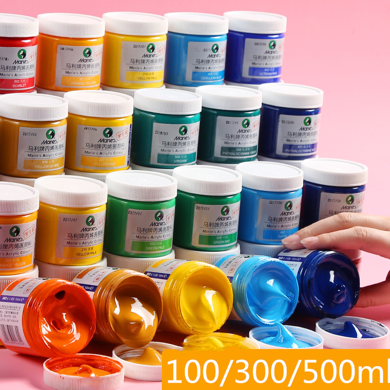 16 Colors Acrylic Paint Pigment Art Painting Silk Screen Printing Mesh Transfers Stencil Inks For DIY Pillow Fabric Paper