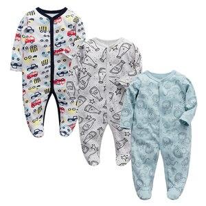 Одежда для маленьких девочек; Комбинезон для новорожденных; Пижама для детей 3, 6, 9, 12 месяцев; Хлопковая одежда для маленьких мальчиков
