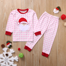 Brother Sister Matching Santa Claus Pajamas Set