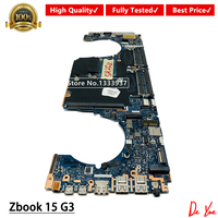 LA C381P Laptop Motherboard 848221 001 For HP ZBook 17 15 G3 Mainboard i7 6820HQ 848221 601 tested OK