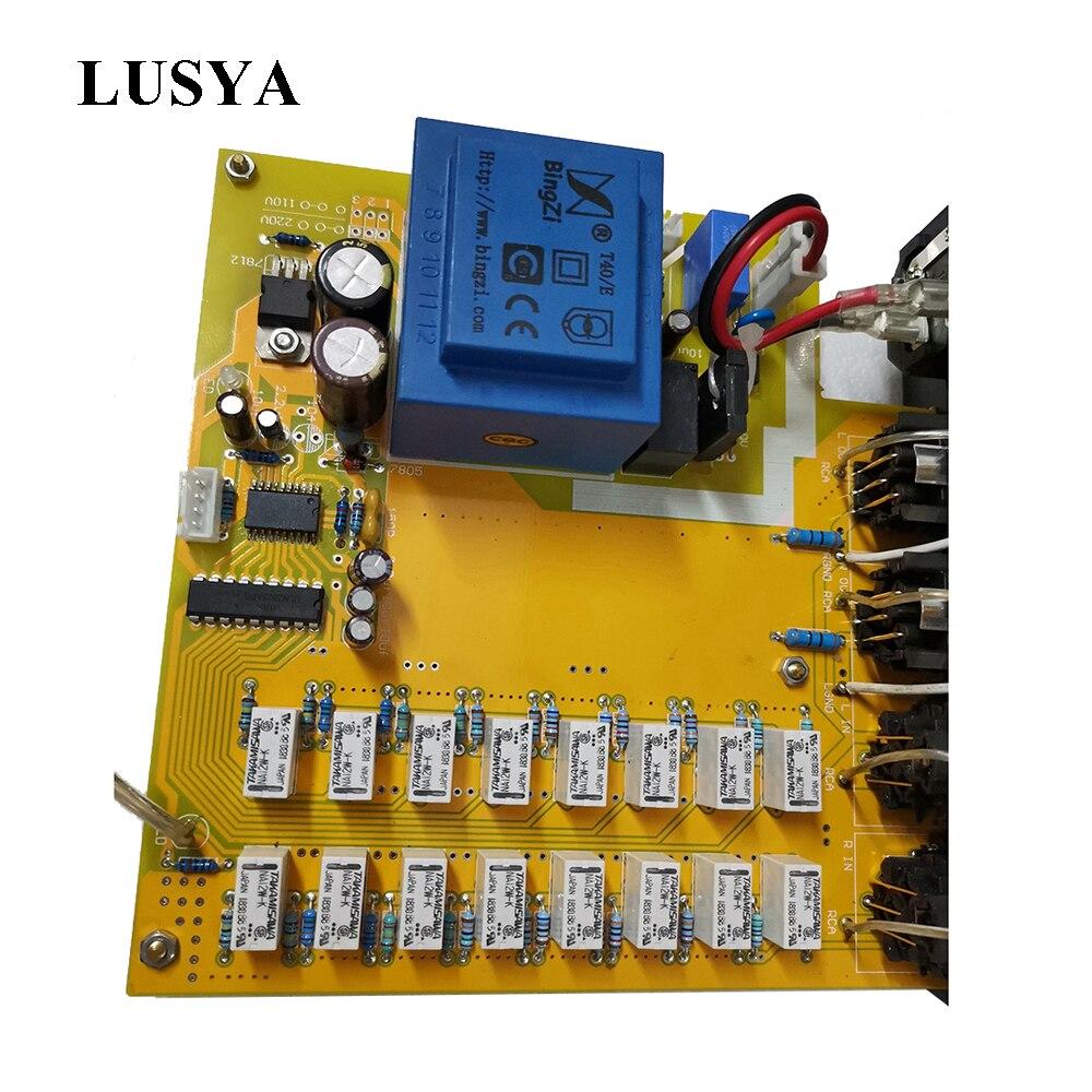 Lusya High-precision Relay Balance Preamp Volume Control Board Balance Potentiometer DIY Kits T1149