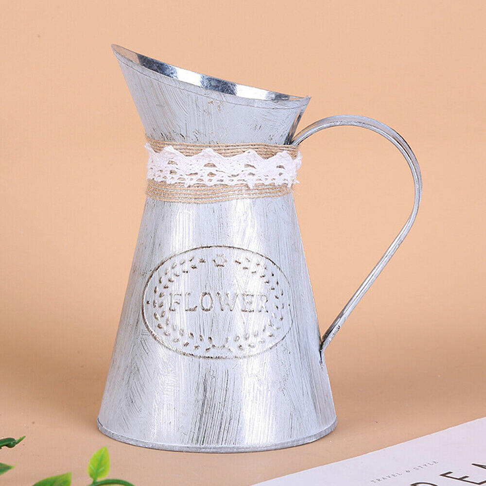 Vintage Flower Pots Flower Plant Vase Bucket  Pots Stand Holder Succulent Plants Buckets Home Balcony Hotel Decoration