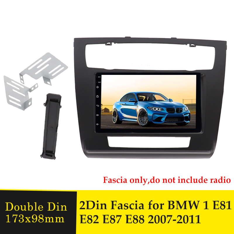Двойной Din Автомобильный Радио панель Пульт дистанционного управления для BMW 1 E81 E82 E87 E88 2007-2011 DVD стерео проигрыватель Интерфейс отделка Пане...
