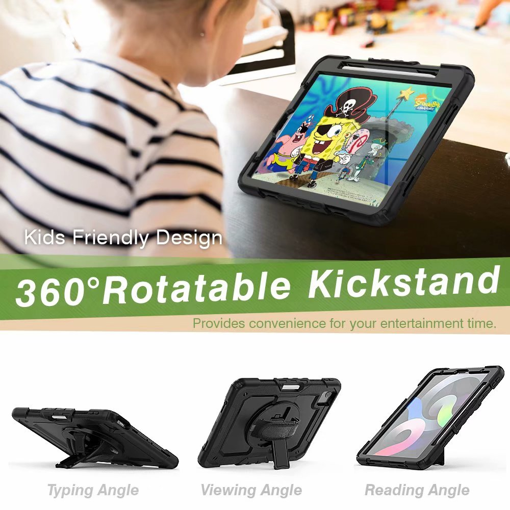 Duty Protective Air For Silicone iPad Screen Film with Generation Heavy Case 4th Kickstand