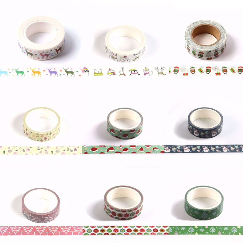 Christmas Tape Merry Christmas Decorative Washi Tape For Christmas Decoration