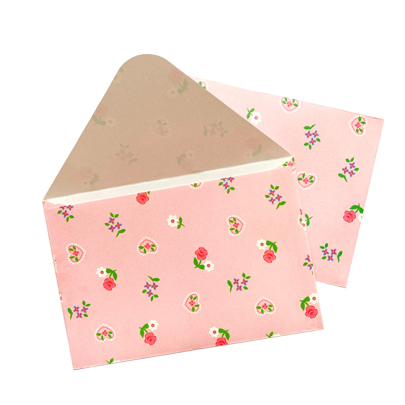 100 pçs por atacado rosa presente envelope