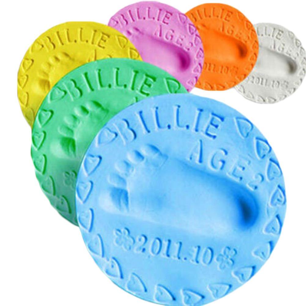 1pcs Baby Handprint Slime Soft Modeling Clay Air Drying Play Light Clay Toys Polymer Plasticine Footprint Imprint Kit DIY Toy