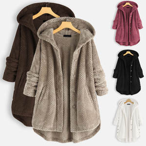Women Coat Hooded Ov...