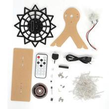 다채로운 전자 LED 플래시 플러그인 DIY 키트 전기 회전 관람차 투명 프리 앰프 169x165x59mm