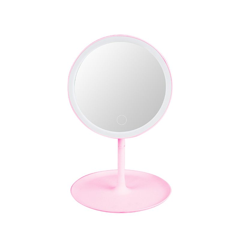 Touch Screen Makeup Mirror With Natural White LED Daylight Detachable Base Tabletop Cosmetic Mirrors