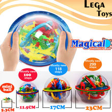 3D פאזל קסם מבוך כדור 299 רמת perplexus הקסום שיש פאזל משחק IQ איזון צעצועים חינוכיים לילדים, 4 סגנונות