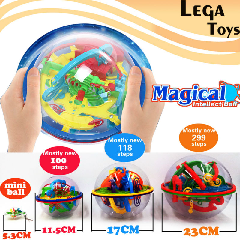 3D Puzzle Magic Maze Ball 299 Level Perplexus Magical Intellect Marble Puzzle Game IQ Balance Educational Toys For Kids,4 Styles