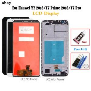 Image 1 - עבור Huawei Y7 2018 LCD תצוגת מגע Digitizer עבור Huawei Y7 פרו 2018 LCD עם מסגרת Y7 ראש 2018 מסך עצרת lcd 5.99