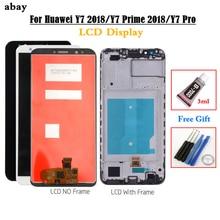 화웨이 Y7 2018 LCD 디스플레이 터치 디지타이저 화웨이 Y7 프로 2018 LCD 프레임 Y7 프라임 2018 스크린 어셈블리 lcd 5.99