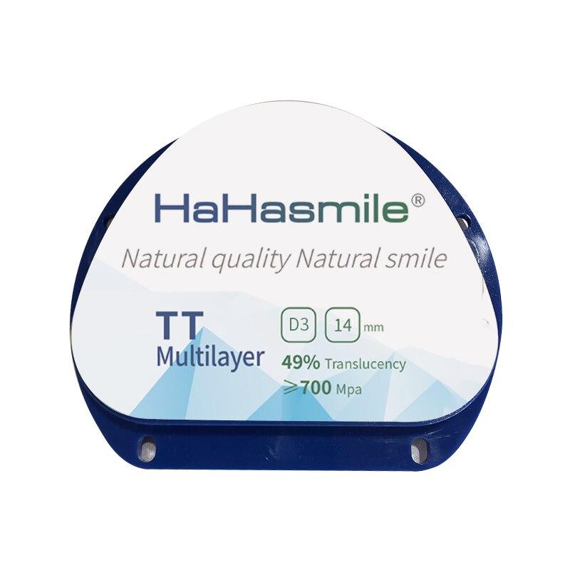 One Piece TT Multilayer D3 Dental Zirconia Block For Amann Girrbach system D shape for AG CADCAM System Dental Zirconia