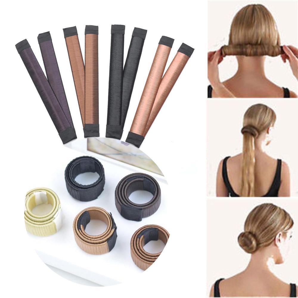 Synthetic Wig Donut Headband Women Hair Accessories Girl Magic Hair Bun Maker Bud Hair Band French Dish Twist DIY Hairsty