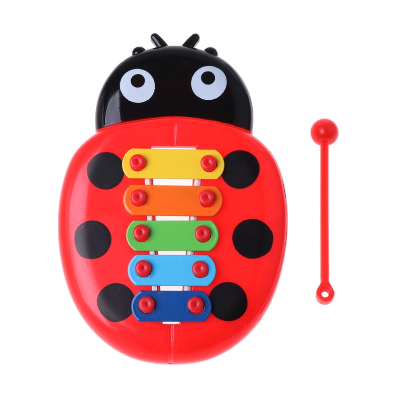 Cute Ladybug Baby Puzzle Insects Piano Music Instrument Toy Educational Toy