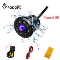 Podofo-Mini cámara de respaldo para coche, HD, Color, vista trasera de marcha atrás, cámaras con 8 LED de visión nocturna, imagen de CCD a Color impermeable de 170 grados