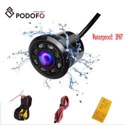 Podofo Mini Car Backup Camera HD Color Reverse Rear View Cameras with 8 LED Night Vision 170 Degree Waterproof Color CCD Image