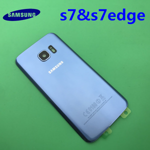 Image 4 - Samsung Galaxy S7 edge Original Back Battery Cover G930 G930F Case G935 G935F Rear Door Housing Glass Panel Replacement Part