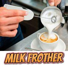 Misturador de leite de mão foamer para café cappuccino creme de leite de chocolate quente jarras de leite de cozinha espumante whisker mistura de espuma maio 8th