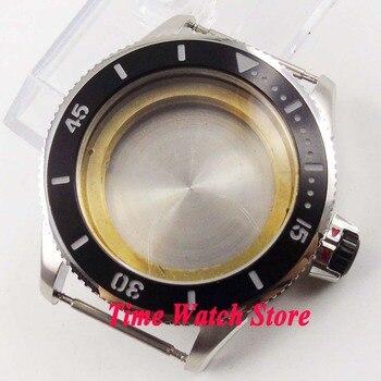 43mm ceramic bezel 316L stainless steel watch case fit ETA 2836 MIYOTA 82 series MOVEMENT C128