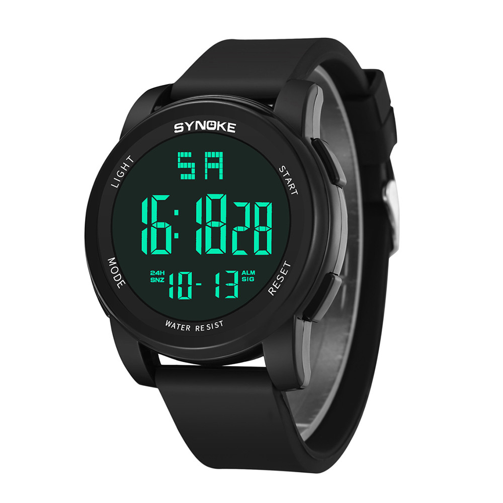 Multi Function Men's Digital Watch Fashion Plastic Case Silicone Strap Male's Watches Military Sports LED Display Watch Relogio