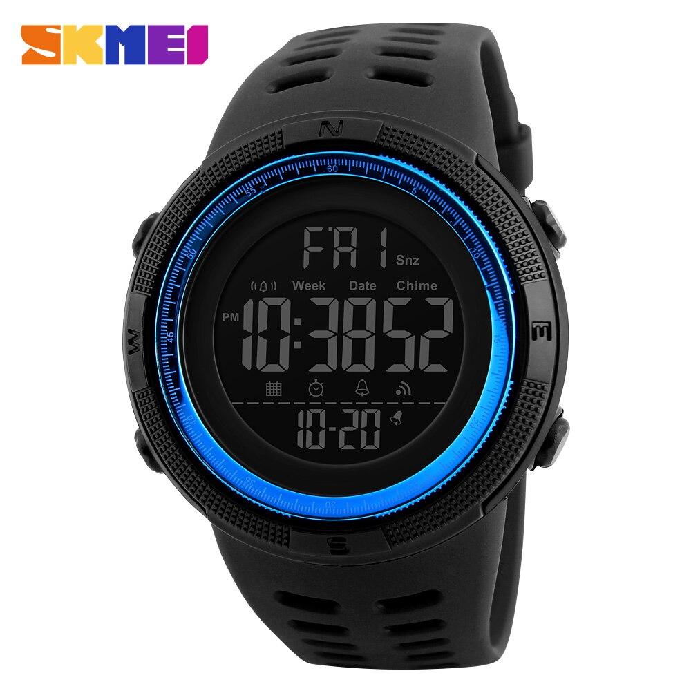 Despertador à Prova Skmei Marca Relógios Esportivos Masculinos Multifunções Dwaterproof Água Led Digital Relógio 1251 Militar Masculino
