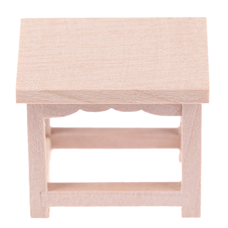 Dollhouse Miniature Accessories Wood Stool Flower Stand Beer Stand Simulation Chair Furniture Model Toys For Doll House Decor