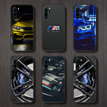 Blue Red Car for Bmw Phone Case Cover Hull For Huawei P8 P9 P10 P20 P30 P40 Lite Pro Plus smart Z 2019 black shell fashion funda image