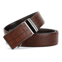 Crocodile Grain Male Belt Genuine Leather Tide Automatic Buckle Fund Waist Taobao