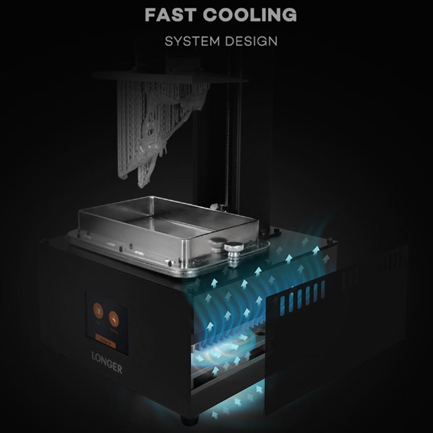 lowest price LONGER Orange 30 SLA 3D Printer with High Precision 2K LCD 3D Printer kit with Resin Matrix UV LED Full Metal Body 3D Print