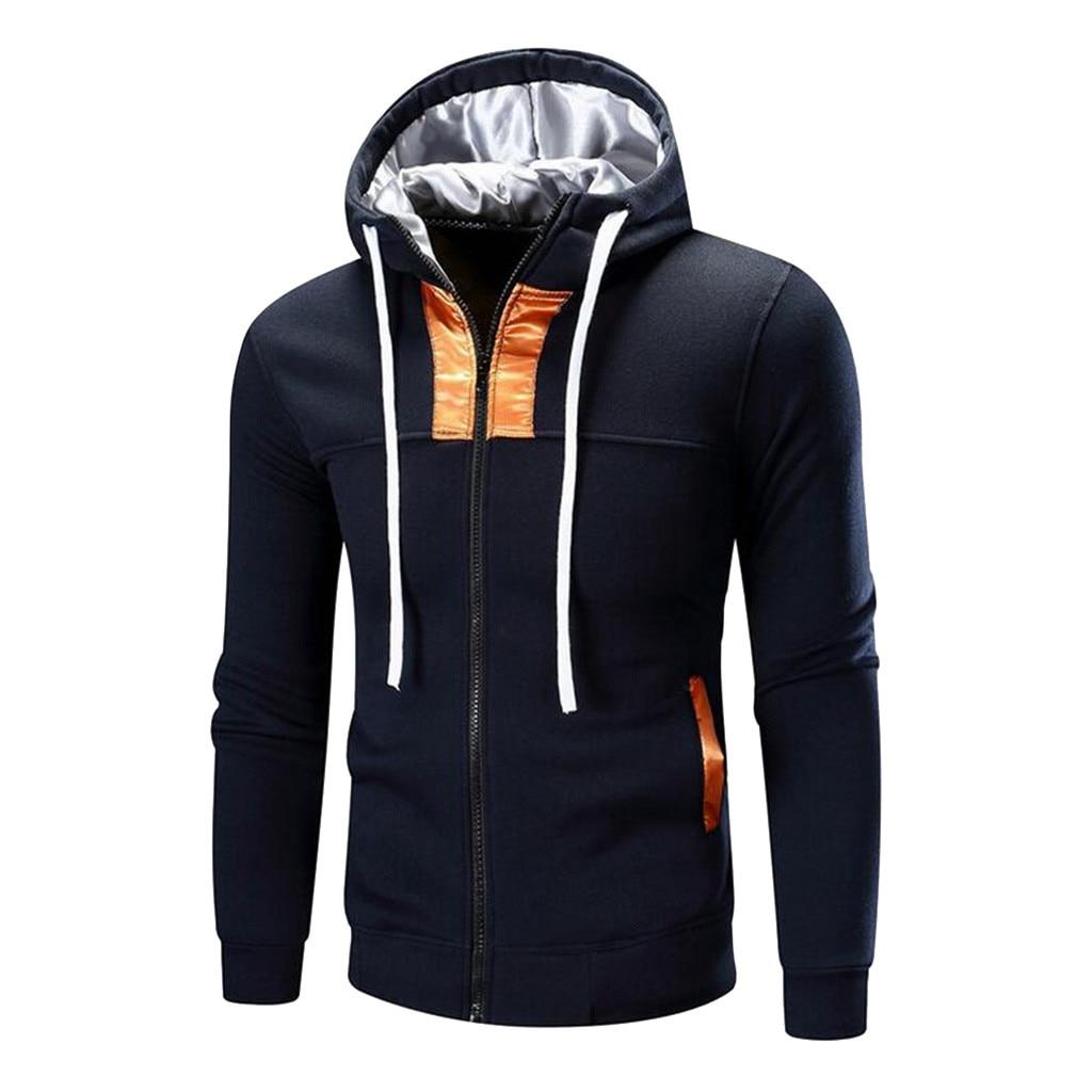 ZNG 2020 Fashion Men's Sweatshirt Moletom Autumn Winter Long Sleeve Patchwork Hoodie Casual Loose Male Sweatshirt Top