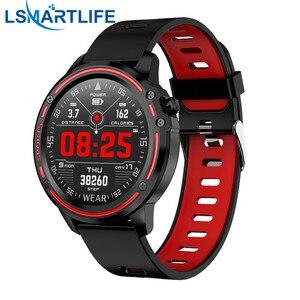 Image 1 - Reloj inteligente deportivo L8 Pk L5 L9, reloj inteligente deportivo resistente al agua IP68 con control del ritmo cardíaco y ECG de presión arterial