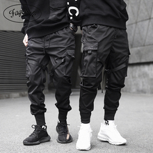 Ribbons Cargo Pants Men Casual Streetwear Harajuku