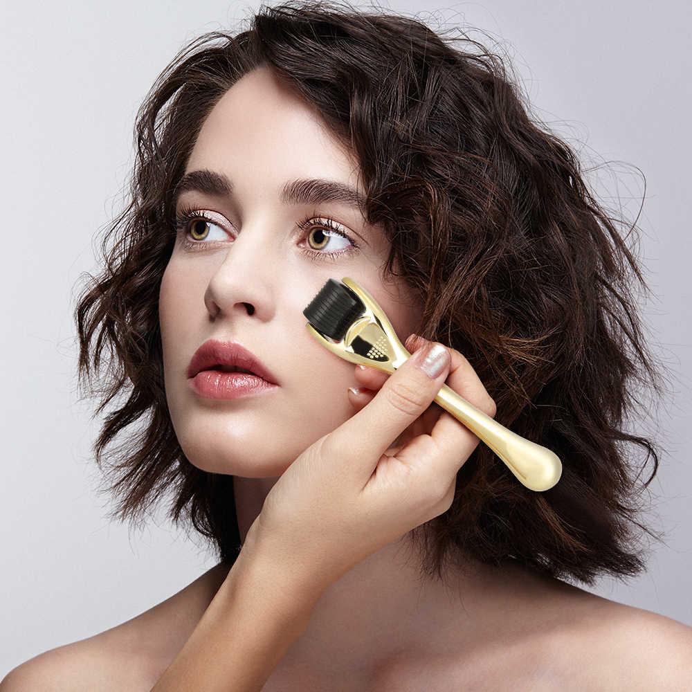 Derma Roller Facial ไทเทเนียมไมโครเข็ม 542 mezoroller เครื่อง Face Skin Care TOOL Body Treatment Essence ดูดซับ