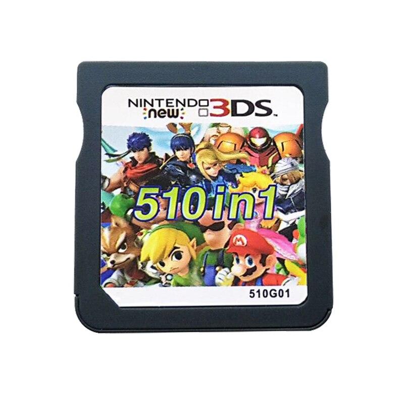 510 в 1 сборная видео игровая карта-картридж для nintendo DS 3DS 2DS Super Combo Multi Cart