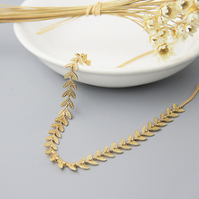 Silvology Gold Leaves Choker Necklace 925 Sterling Silver 18K Gold Elegant Necklace for Women New Silver 925 Fashionable Jewelry цена в Москве и Питере