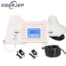 GSM 900 UMTS 1800 МГц двухдиапазонный Ретранслятор с ЖК дисплеем, 2G 3G 4G LTE усилитель сотовой связи, усилитель сотовой связи с LPDA/потолочными антеннами