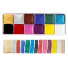 12 Colors Non Toxic Face Body Paint Water Soluble Oil Painting Tattoo Halloween K3KB