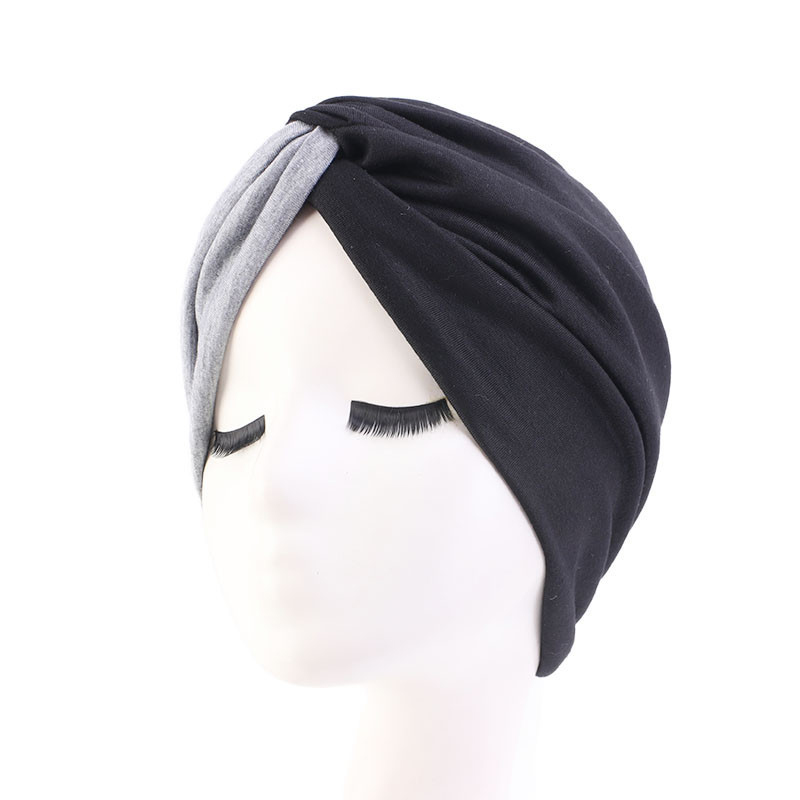 H9966e40254ea49b9a89373a3cf420974u - Muslim head scarves for women solid cotton inner hijab caps India bonnet vintage cross turban hijabs muslim islamic turbante hat
