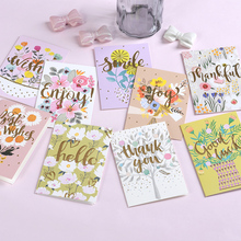 10sets Mini Blessing Greeting Card Childrens Light Color Hot Stamping Universal Thank You