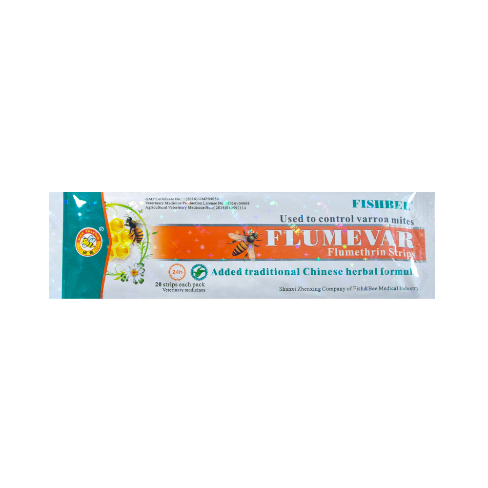 10 Bags FLUMEVAR Flumethrin Strip Varroa Mite Killer 20 Strips Fishbee With Chinese Herbal Medicine Extracts