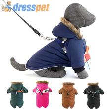 Ciepłe zimowe ubrania dla małych psów zwierzęta przebranie szczeniaka buldog francuski strój płaszcz wodoodporna kurtka odzież dla psów Chihuahua tanie tanio dresspet CN (pochodzenie) 100 bawełna Jesień zima Stałe Green Brown Gray Balck Blue S M L XL XXL Small Medium Puppy Dogs