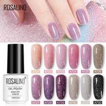 ROSALIND 7ml Glitter Neon Sequins Gel Nail Polish Semi Permanant UV Lamp Varnish All For Manicure Nail Art Design Top And Base