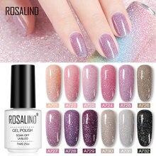 ROSALIND 7ml Glitter Neon Sequins jel oje yarı kalıcı UV lamba vernik tüm manikür Nail Art tasarım üst ve taban