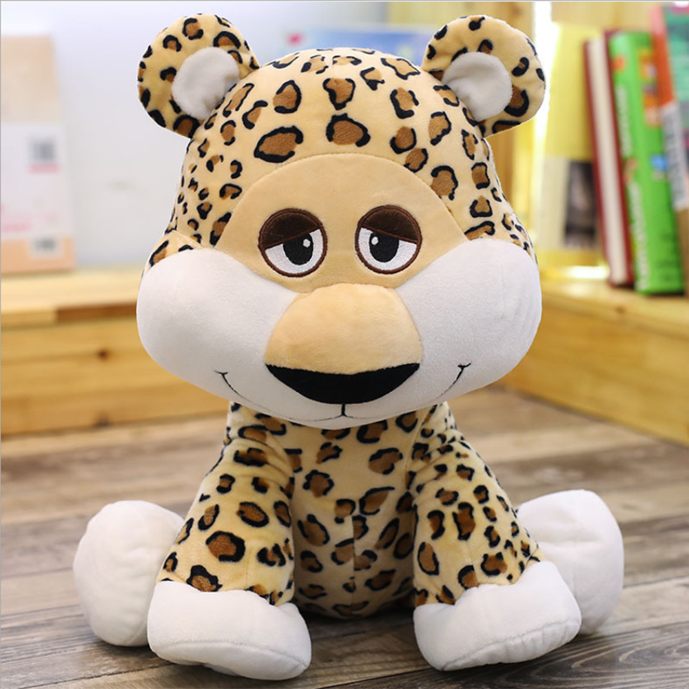35/50cm PP Cotton Simulation Leopard Panther Plush Toy Simulation Stuffed Animal Classic Toys For Children Gift