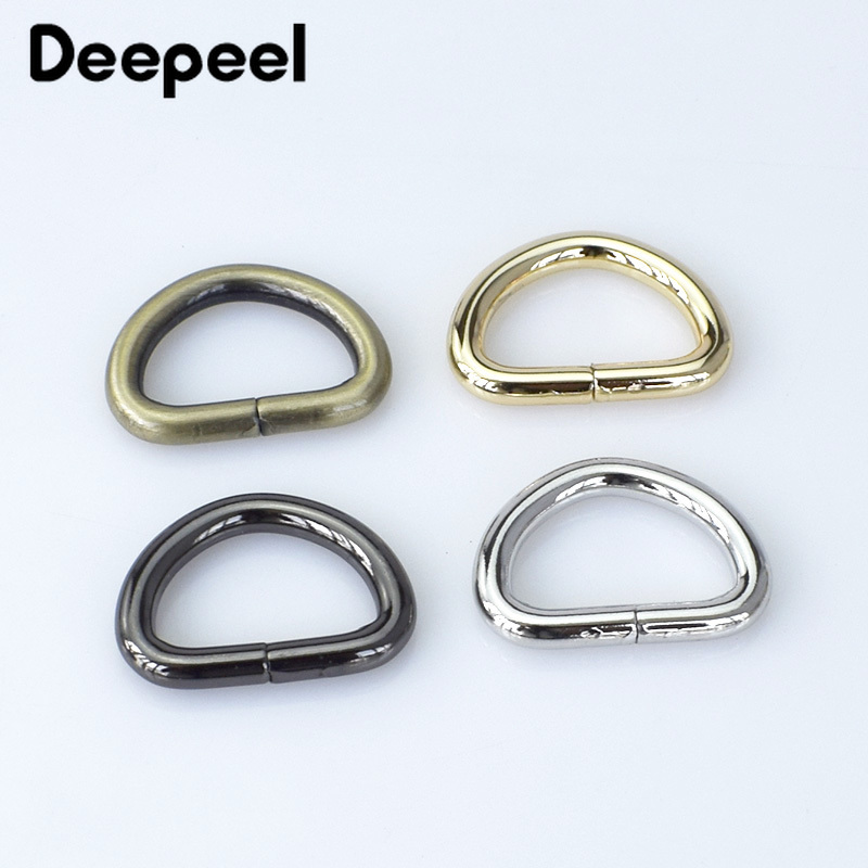 10pcs 25mm Metal O Dee D Ring Buckles Webbing Clasp DIY Bags Purse Strap Belt Dog Collar Chain Leather Hardware Accessory