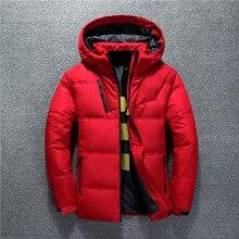 Новая зимняя мужская куртка высокого качества, модное повседневное пальто с капюшоном, толстый теплый водонепроницаемый пуховик, Мужская Зимняя парка, верхняя одежда